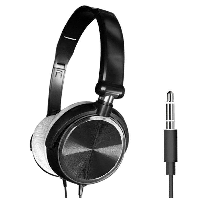 S1 Wired Computer Headset with Microphone Heavy Bass Game Karaoke Voice Headset Black without wheat box
