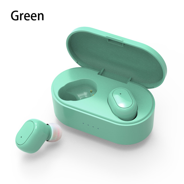 M2 TWS Bluetooth Earphone 5.0 True Wireless Headphones With Mic Handsfree Stereo Sound Universal Headset For iPhone Samsung Xiaomi Cellphoes Green
