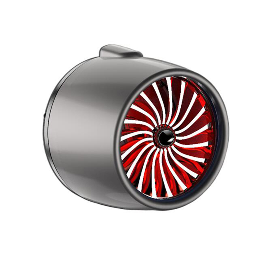 LED Scent Vent Decoration Clip On Alloy Diffuser Car Perfume Freshener Gray titanium red