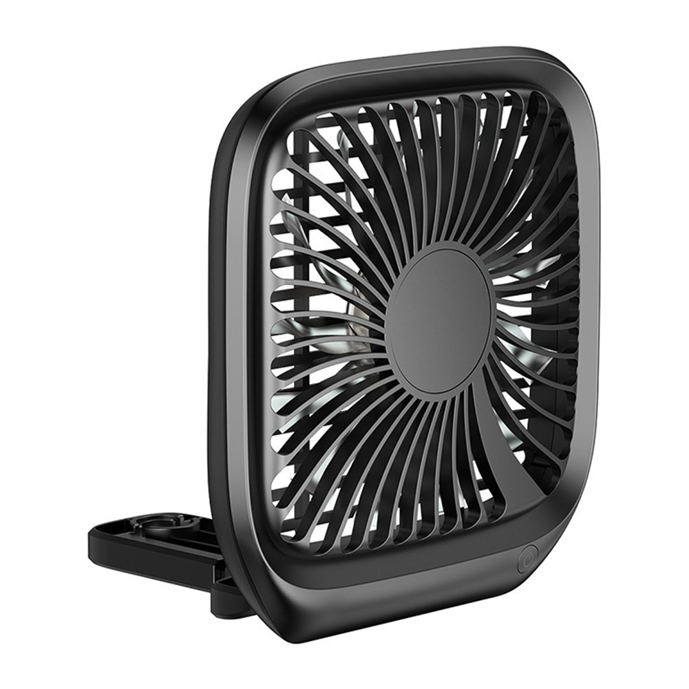 Electric Car Fan Portable Vehicle Auto Fan Cooling Fan Low Noise With Cigarette Lighter Car Charger Black
