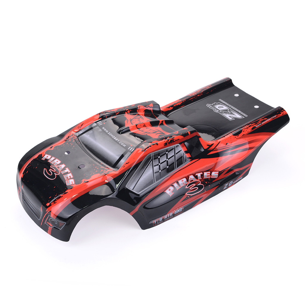 ZD Racing 8460 Car Shell 9021-V3 PVC Body for 1/8 RC Model High Speed Outdoor Vehicle Spare Part red