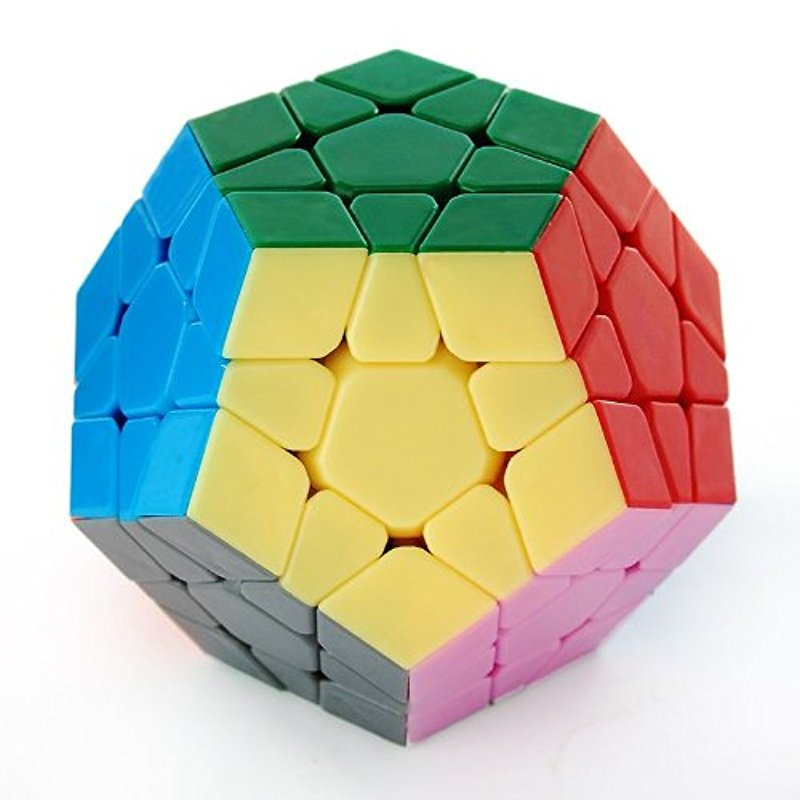 [US Direct] Dayan Megaminx I Stickerless Speed Cube Puzzle 12-axis 3-rank Dodecahedron without Ridges