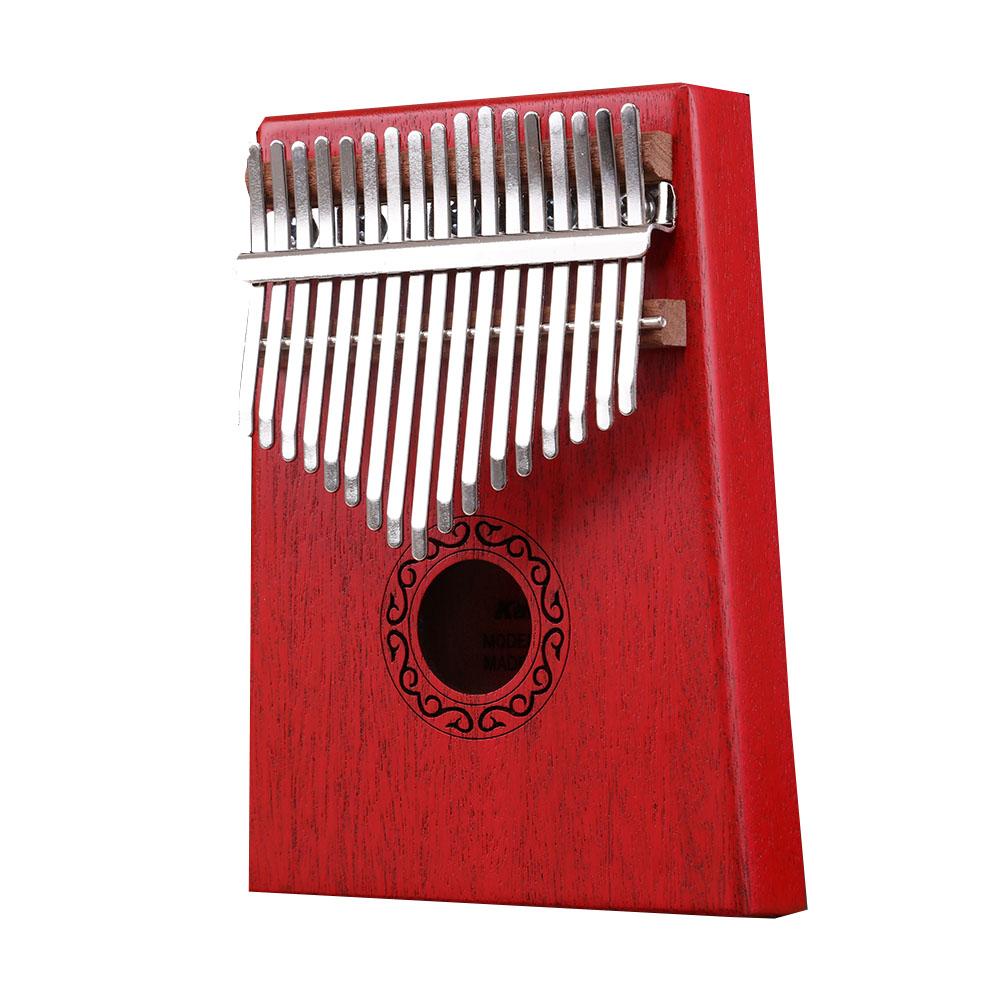 17 Key Kalimba Thumb Piano Kids Adults Body Music Finger Percussion Keyboard red