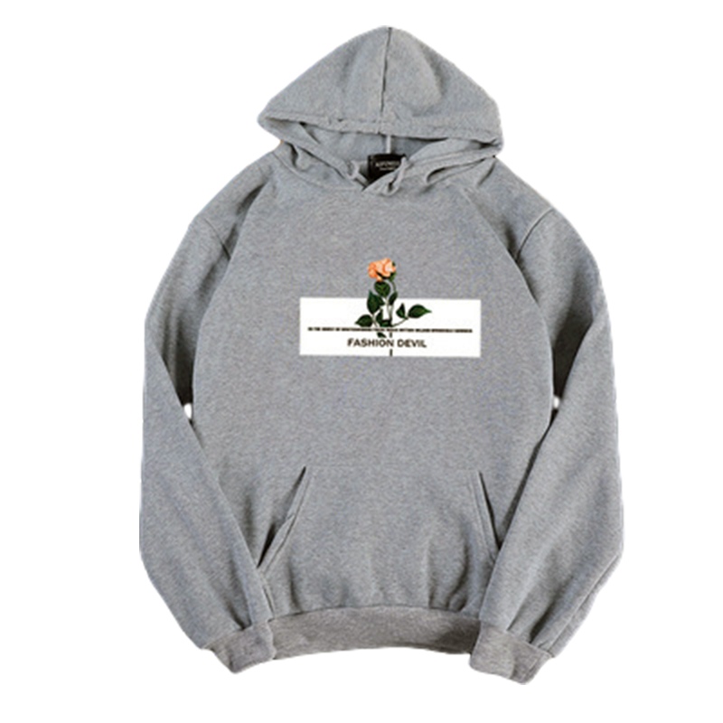 Women's Hoodies Autumn and Winter Pullover Thick Casual Fleece Long-sleeve Hooded Sweater gray_XXL