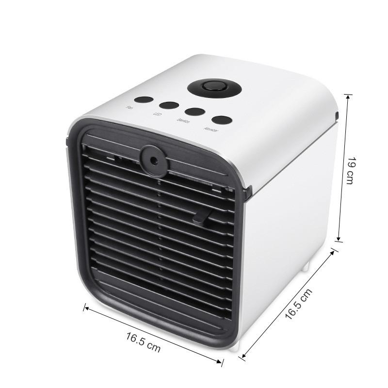 Mini Desktop Air Conditioning Cooler Home Office Bedroom Air Cooler Ice Cube Quick Air Conditioner white