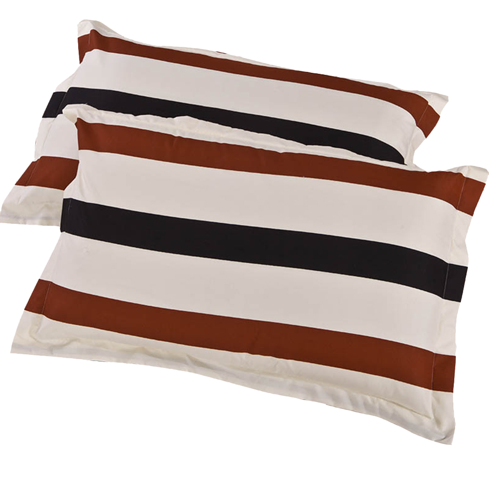 2 Pcs Simple Leisure Pillows Covers Soft Comfortable Pillowcase Excluding Pillow