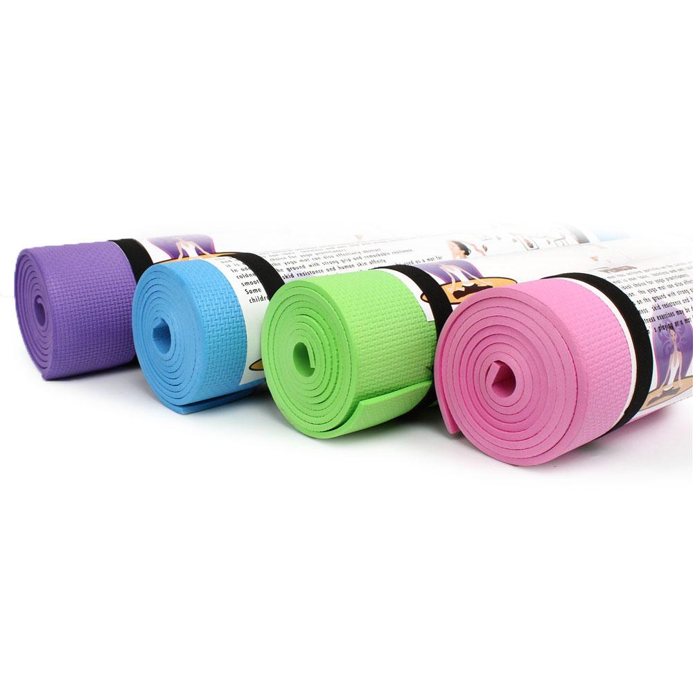 6MM Yoga Mats Foam Non-slip Gym Sport Fitness Pilates Exercise Pad Training Mat Pink_173 * 61 * 0.6cm