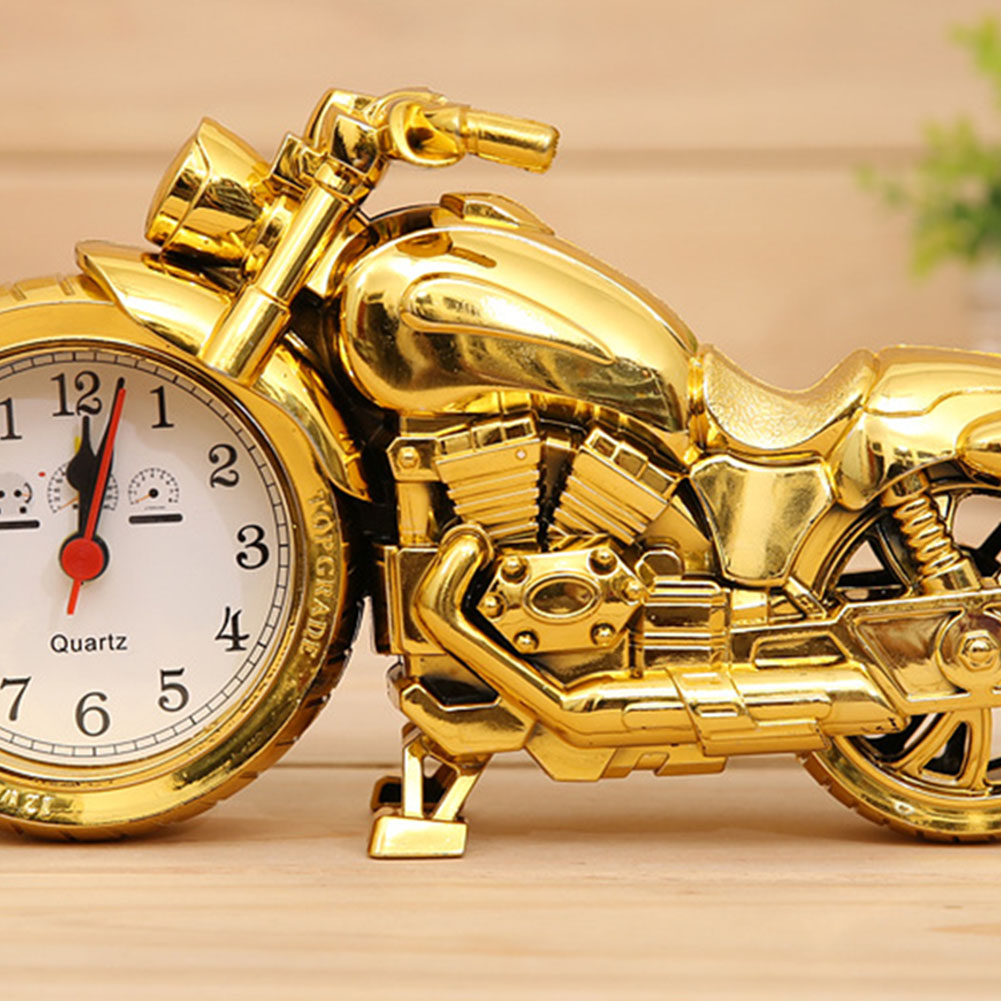 Cool Motorcycle Shape Alarm Clock Home Tabletop Decoration PF168D (local gold single color)