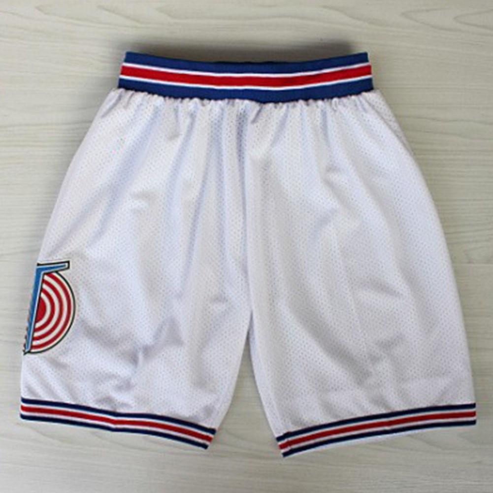 Retro Mesh Cool Shorts  Casual Sports Basketball Squad Shorts Fashion Short Pants white_XL