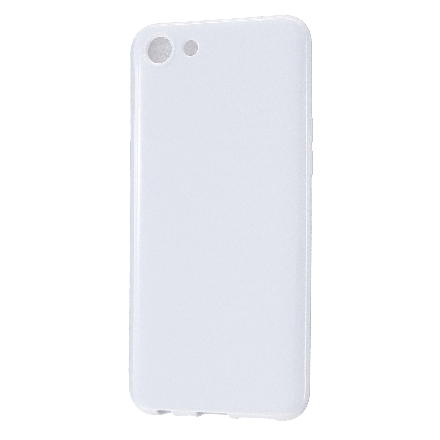 For OPPO A79/A83 Cellphone Cover Soft Hands Feel No-Fade TPU Phone Case Full Body Protection Milk white