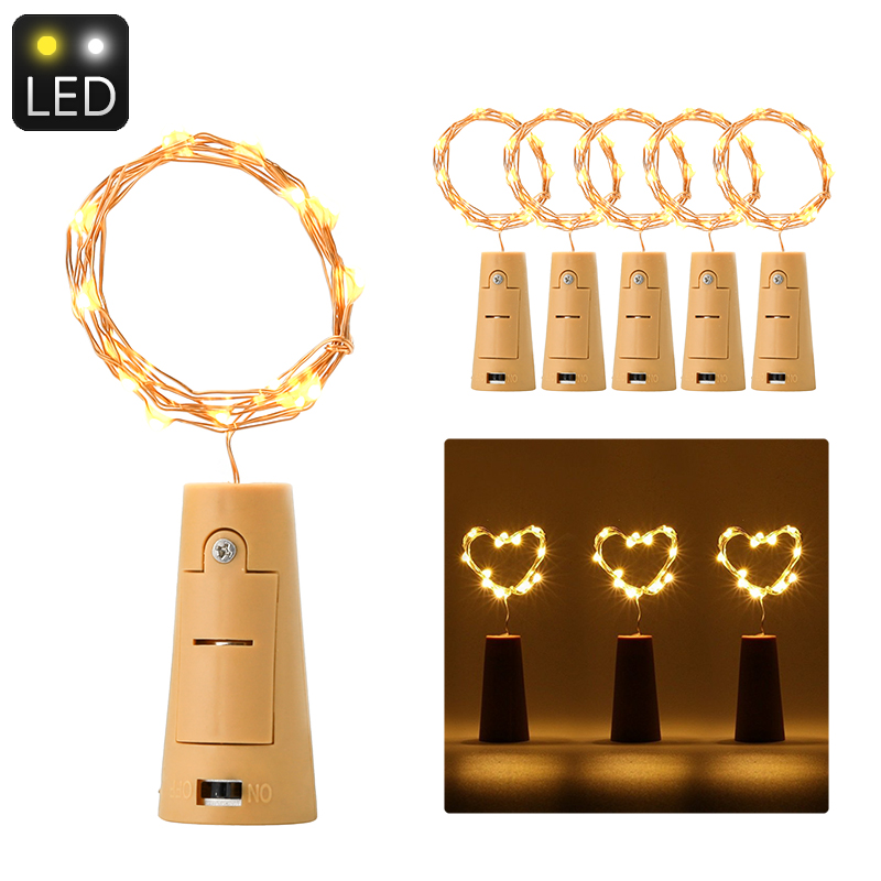 Cork-Shaped LED Light String