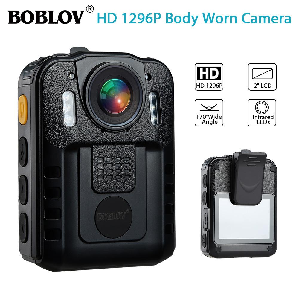BOBOLOV WN9 1296P HD Camera Body Camcorder 170° Wide Angle IR Night Vision Standard + Kingston TF32GB