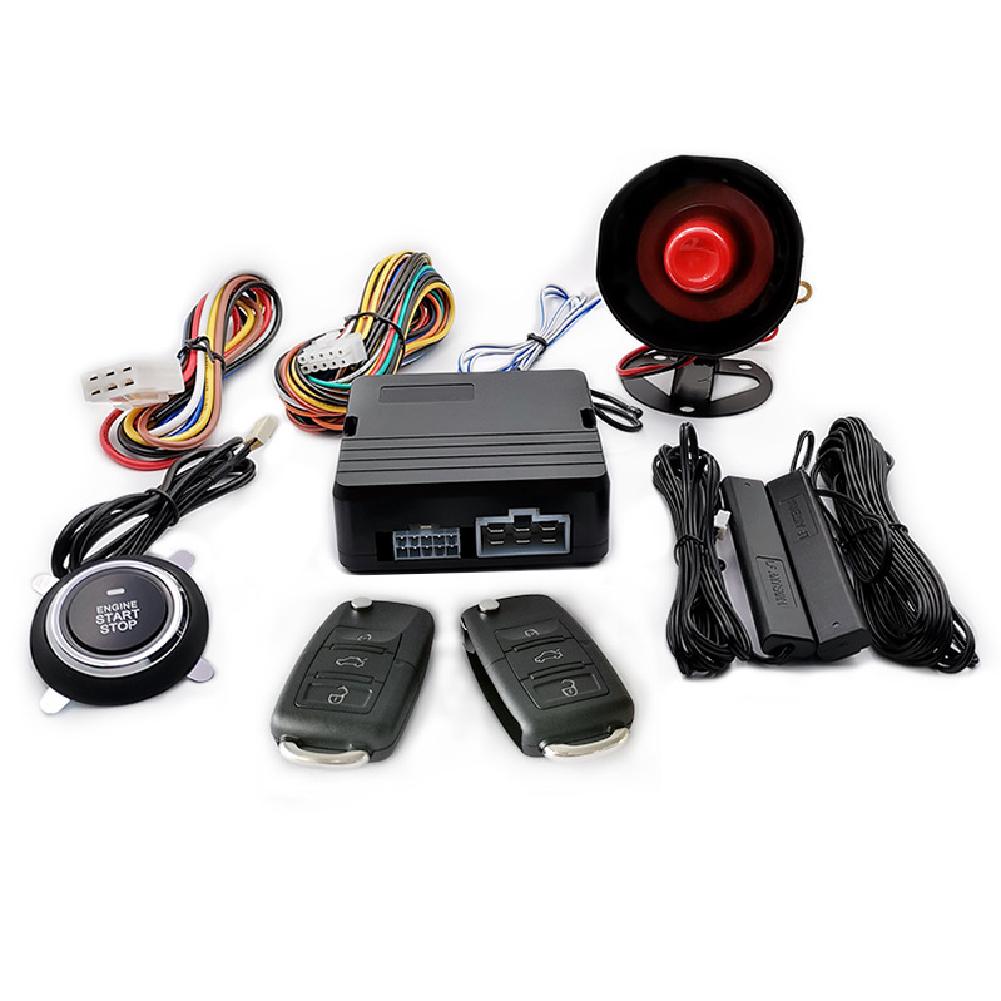 12V Car Alarm Systems Car Remote Central Door Lock Keyless System Minivans Pickup Trucks Car SUV Anti-theft Keyless Entry Starter Auto Accessories black