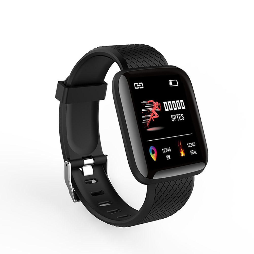 D13 Smart Watches Heart Rate Watch Colorful Screen 116plus with TPU Wristband IP67 Waterproof Fitpro black