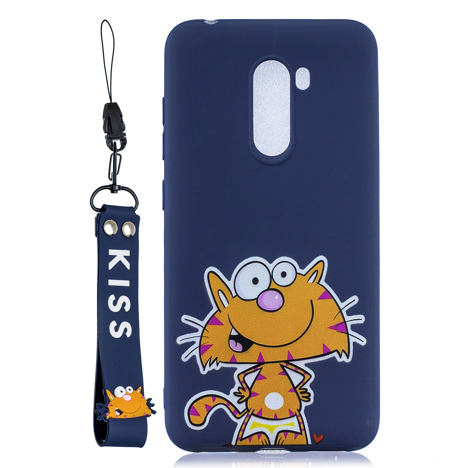 For XIAOMI F1 Cute Coloured Painted TPU Anti-scratch Non-slip Protective Cover Back Case with Lanyard