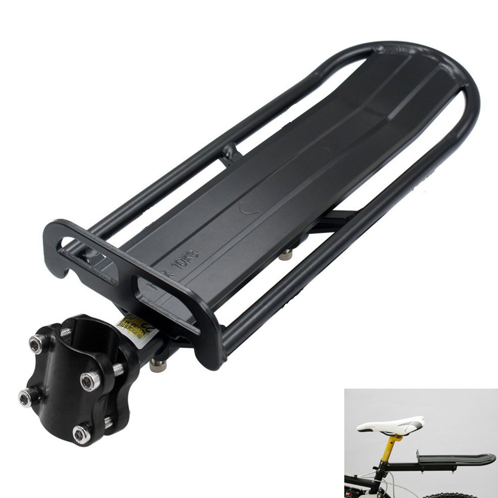 MTB Bike Bicycle Aluminum Alloy Adjustable Rear Seat Luggage Bracket black