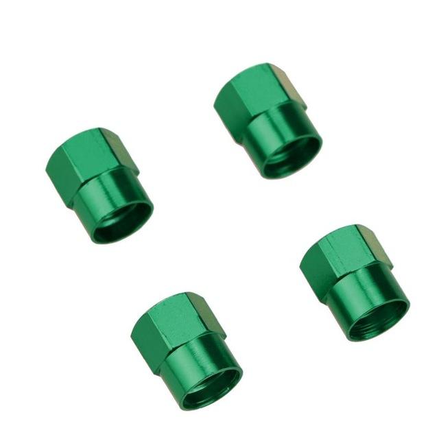 4 Pcs Colorful Car Tire Valve Cap Wheel Hub Valve Cover Auto Accessories  green
