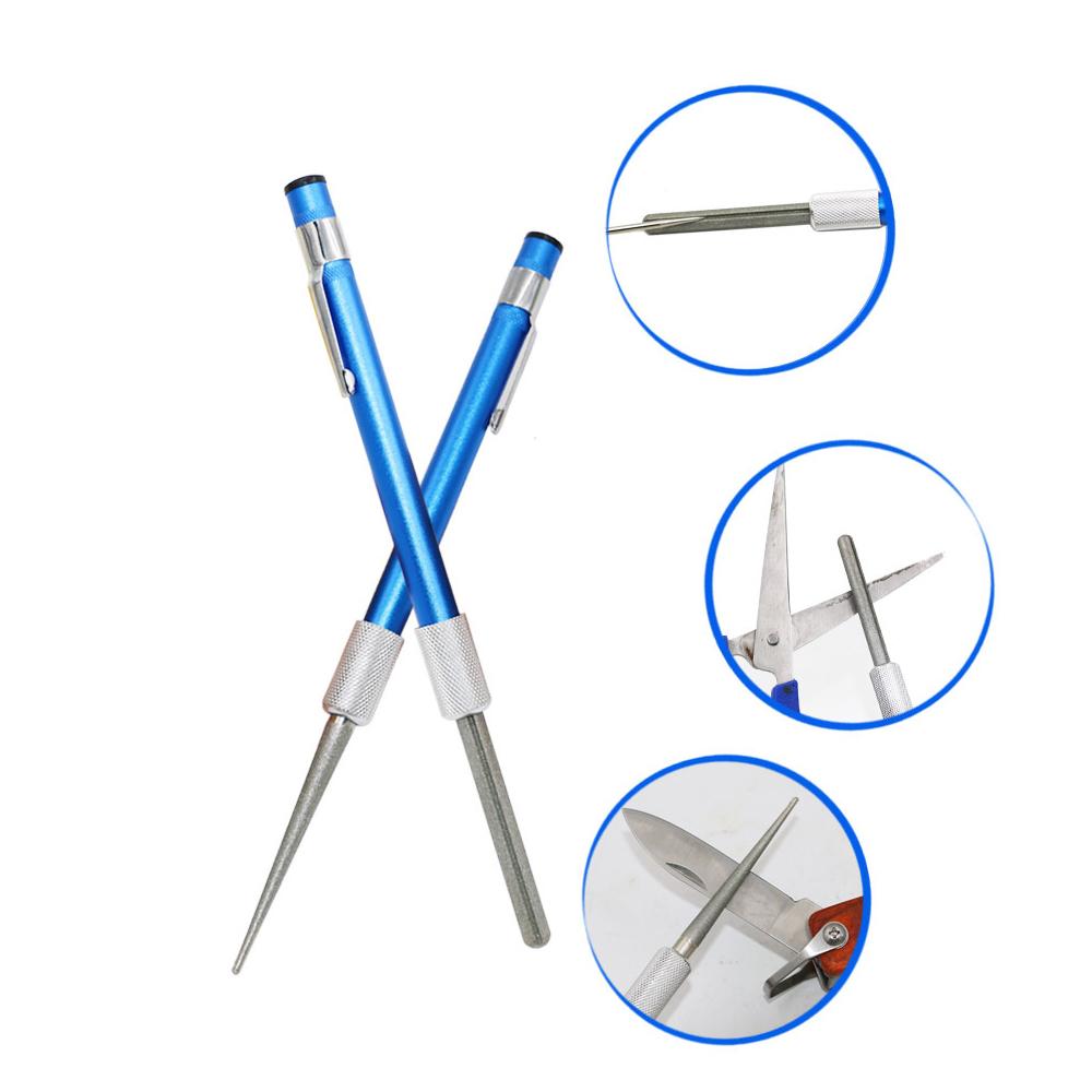 Fishing Sharpener Diamon Pen Type Retractable for Pocket Sharpener Rod Serrated Sharpene Sharpening Stone Grindstone Portable sharpener