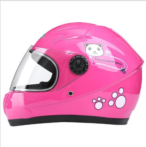 Winter Motorcycle Riding Helmet Electric Bike Helmet Children Outdoor Safety helmet Pink