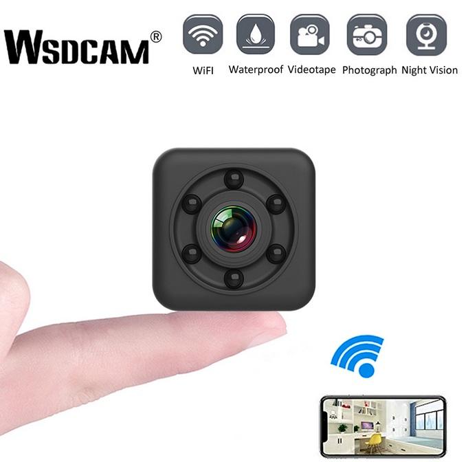 IP Camera HD WIFI Small Mini Camera Cam Video Sensor Night Vision Waterproof Shell Camcorder Micro Camera DVR Motion black