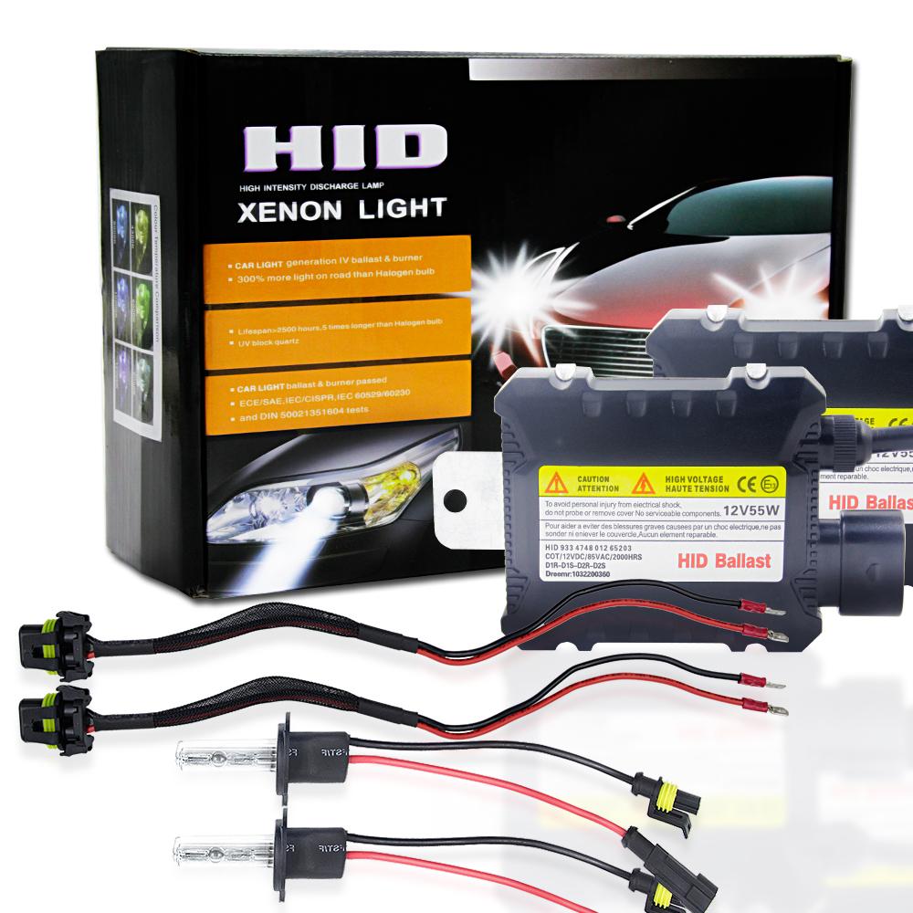 2pcs/set 55W H1 HID Xenon Headlight Bulbs Conversion KIT 3000-12000K for Car
