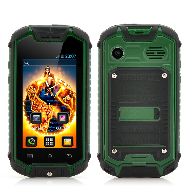 Mini Nano Rugged Mobile Phone (Green)