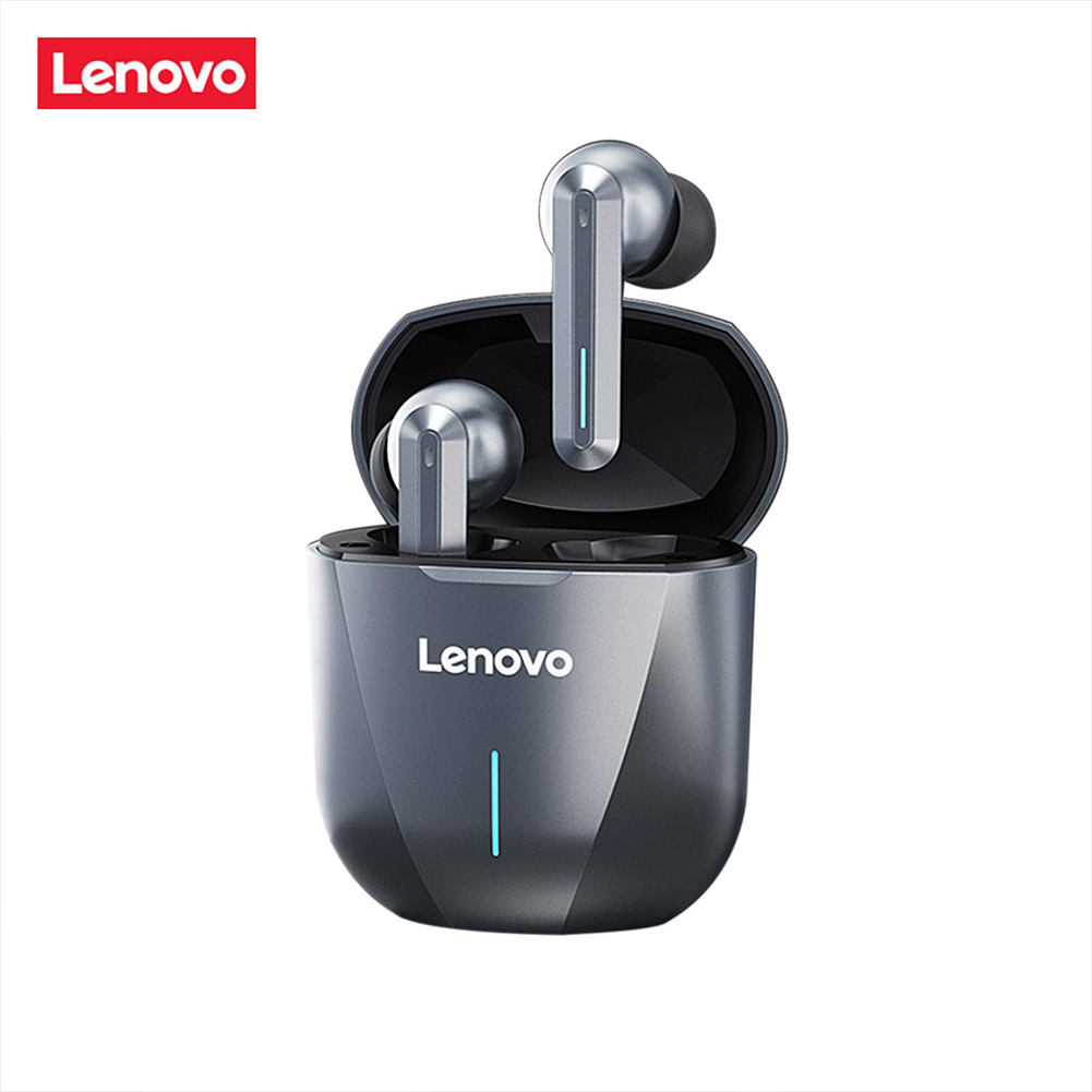 Original LENOVO XG01 Wireless Bluetooth Headset Binaural In-ear Low Latency Gaming Headset Gray-black