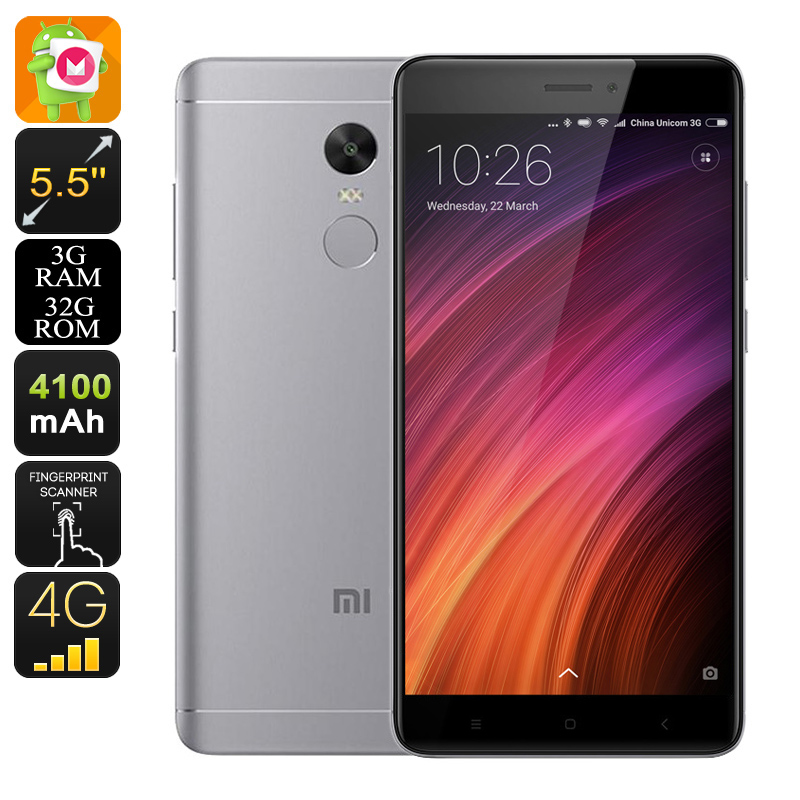 Android Phone Xiaomi Redmi Note 4X (Grey)