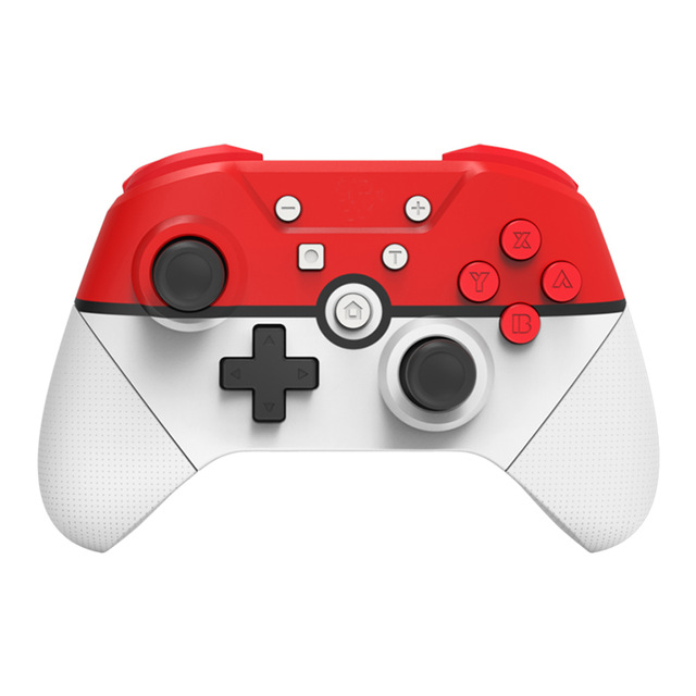 Wireless Gamepad For Nintend Switch Pro Controller have NFC Turbo 6-Axis Doublemotor 3D Game Joysticks White red
