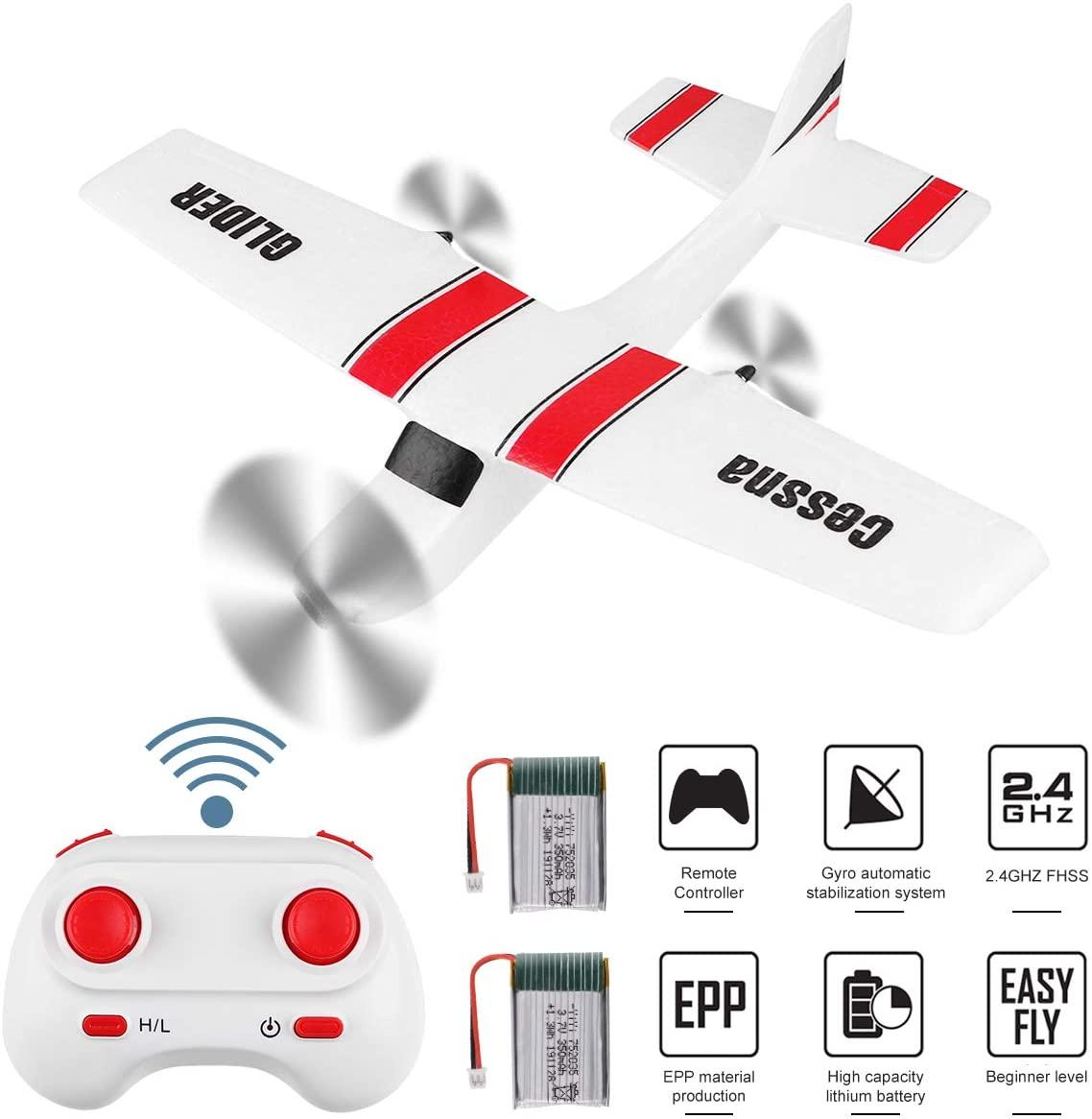 Z53 Medium Foam Glider 2 Battery Remote Control Toy 2.4ghz Epp Rc Airplane Rc Aircraft Glider white