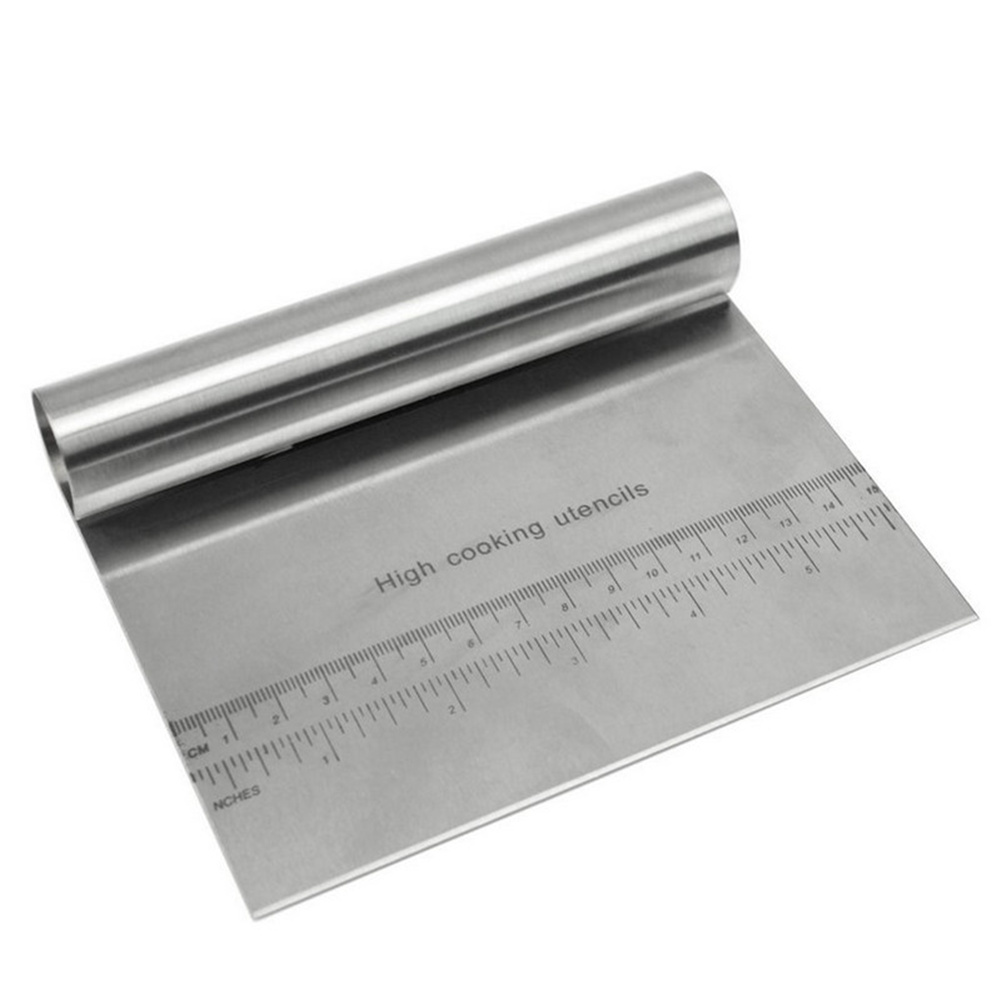 Stainless Steel Dough  Cutter Pizza Cake Scraper Smoother Kitchen Cooking Accessories Silver