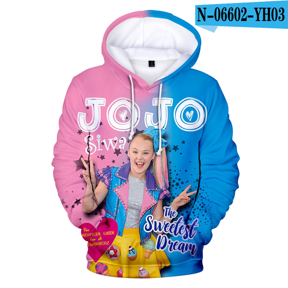 Men Women Hoodie Sweatshirt JOJO SIWA 3D Printing Loose Autumn Winter Pullover Tops A_M