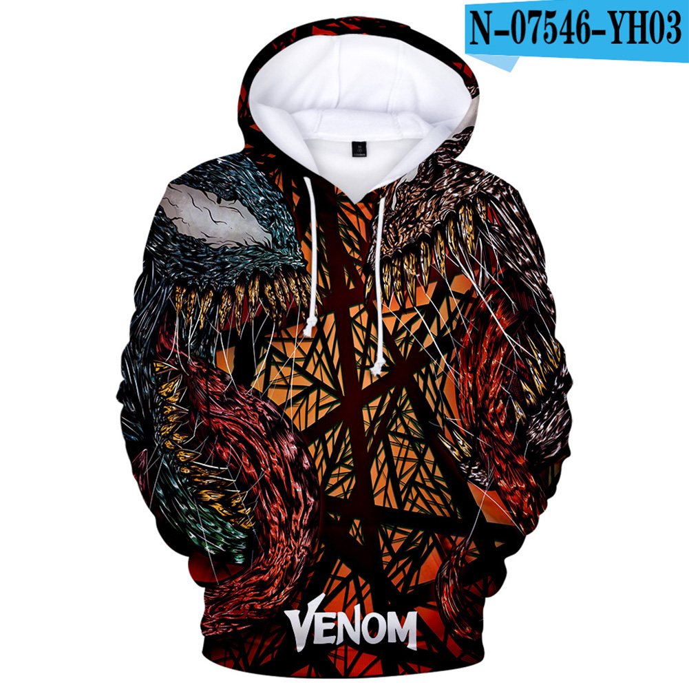 Unisex 3D Printed Fashion Round Neck Long Sleeve Hoodies 121_S