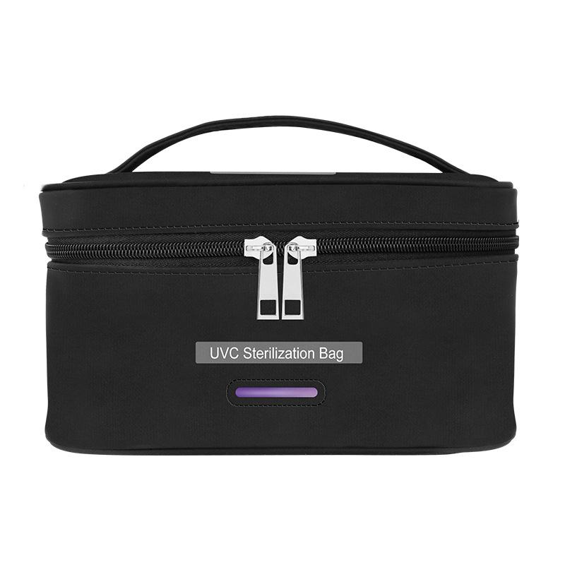 Uvc Ultraviolet Disinfection Bag Portable Sterilization Storage Bag for Home Travel black