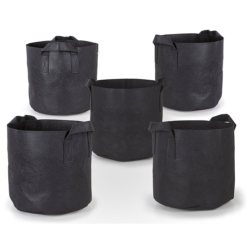 5Pcs Grow Bags with Planting Flowerpot