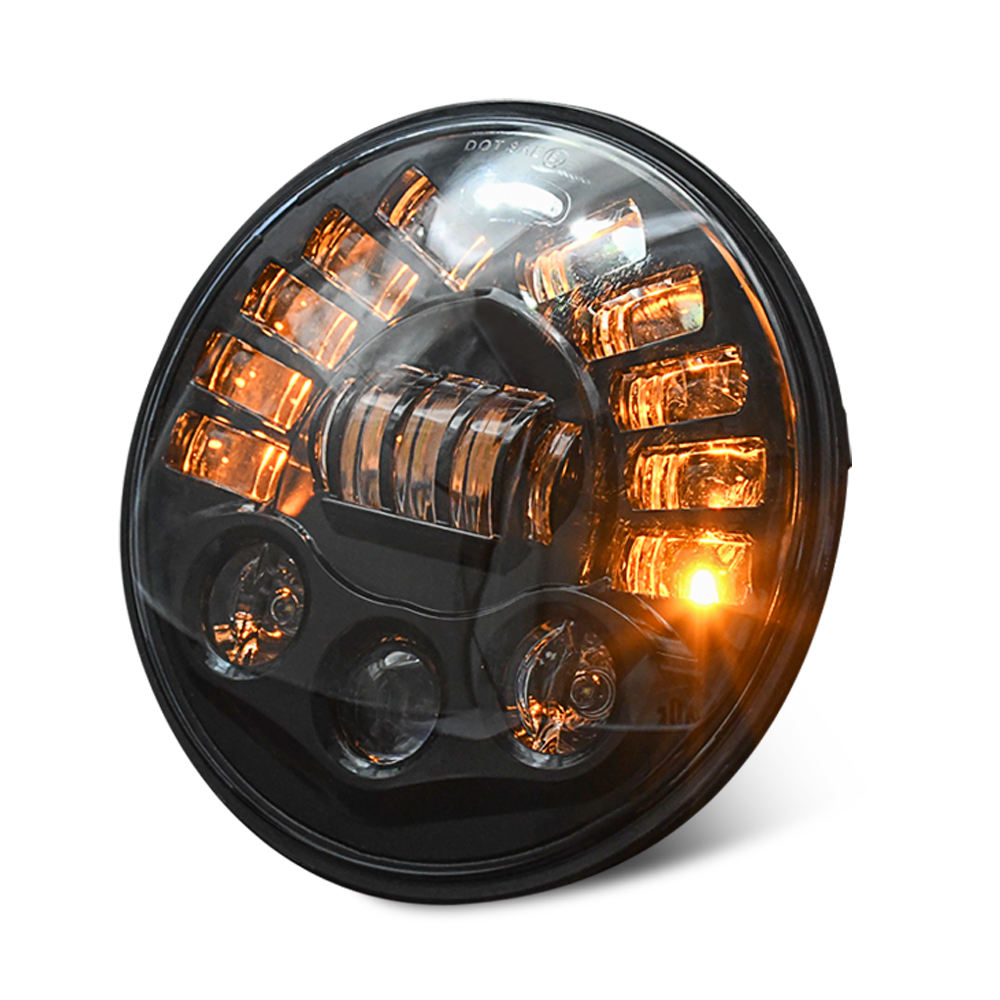 Led DRL Halo Headlight Aluminum 7-inch Matrix Gradient Color For Wrangler Headlight 7 inches