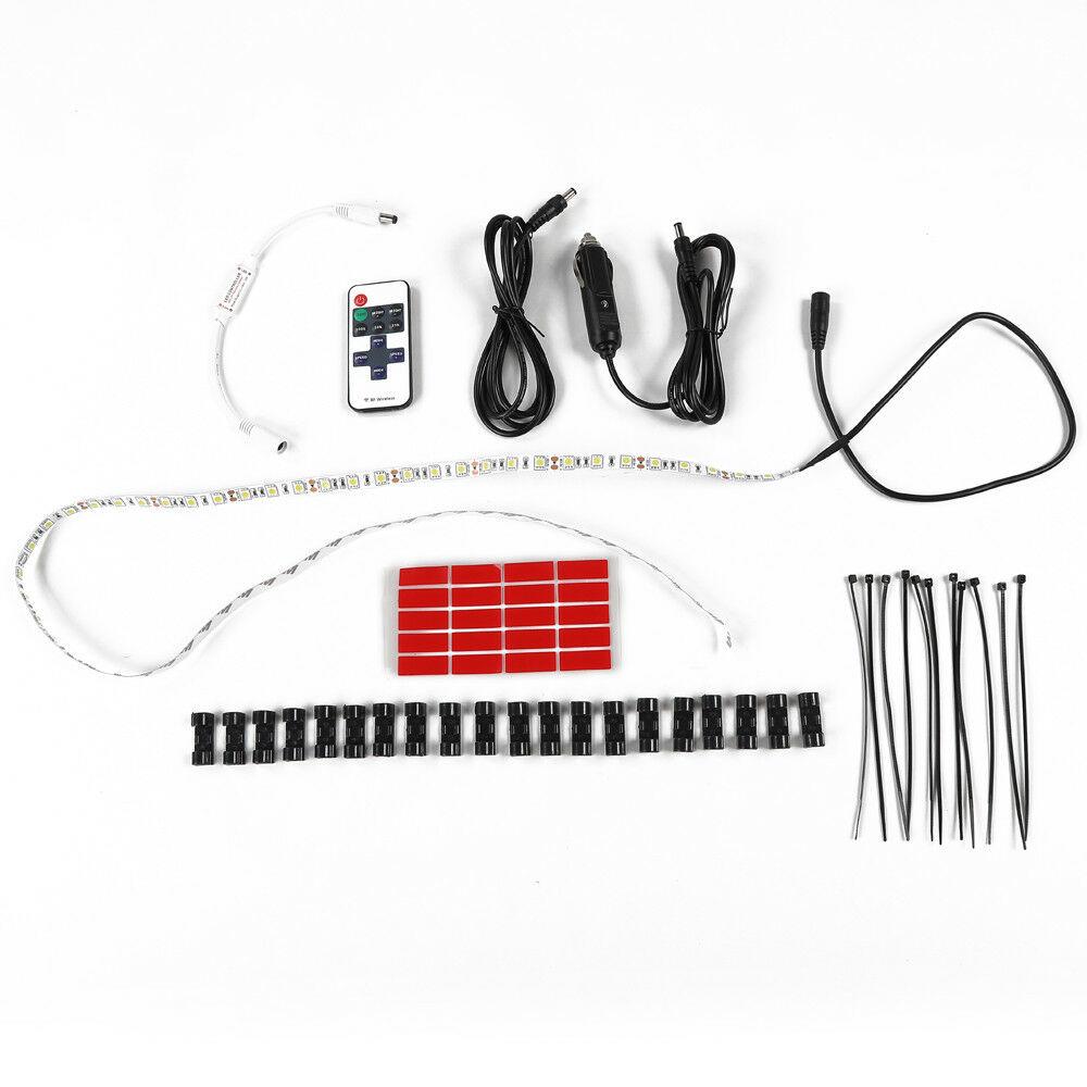 LED Rear Tailgate Glass Gate Hatch Dome Light Bar For Jeep Wrangler JL JK Bagged