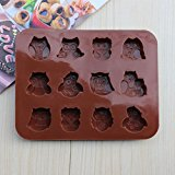 [EU Direct] Lingstar Silicone Candy Chocolate and Soap Molds - Mold Pan Liner Use for Ice Cube Trays, Homemade Soap, Chocolate, Gummy, Jello, Candy, Cakes.Set of 1-(AD107)