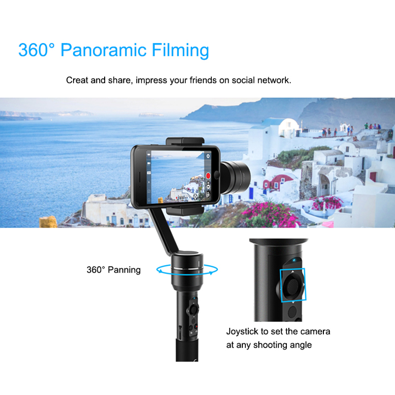 Купить со скидкой AIbird Uoplay 2 Handheld Gimble - 3 Axis Handheld Stabilizer, Face Tracking, Smartphones Up To 5.5 I