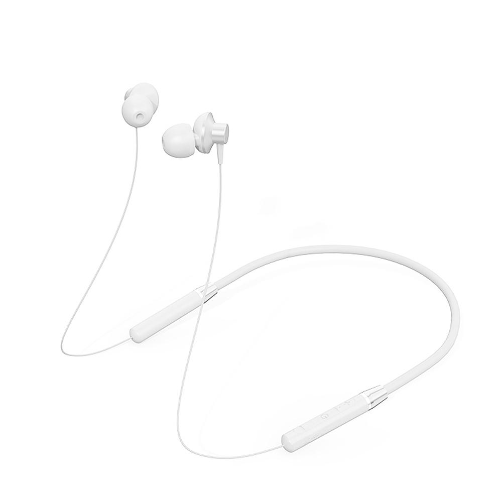 Lenovo HE05 Bluetooth Headphones IPX5 Waterproof Sport Wireless Earphones Sweatproof Earbuds with Mi white