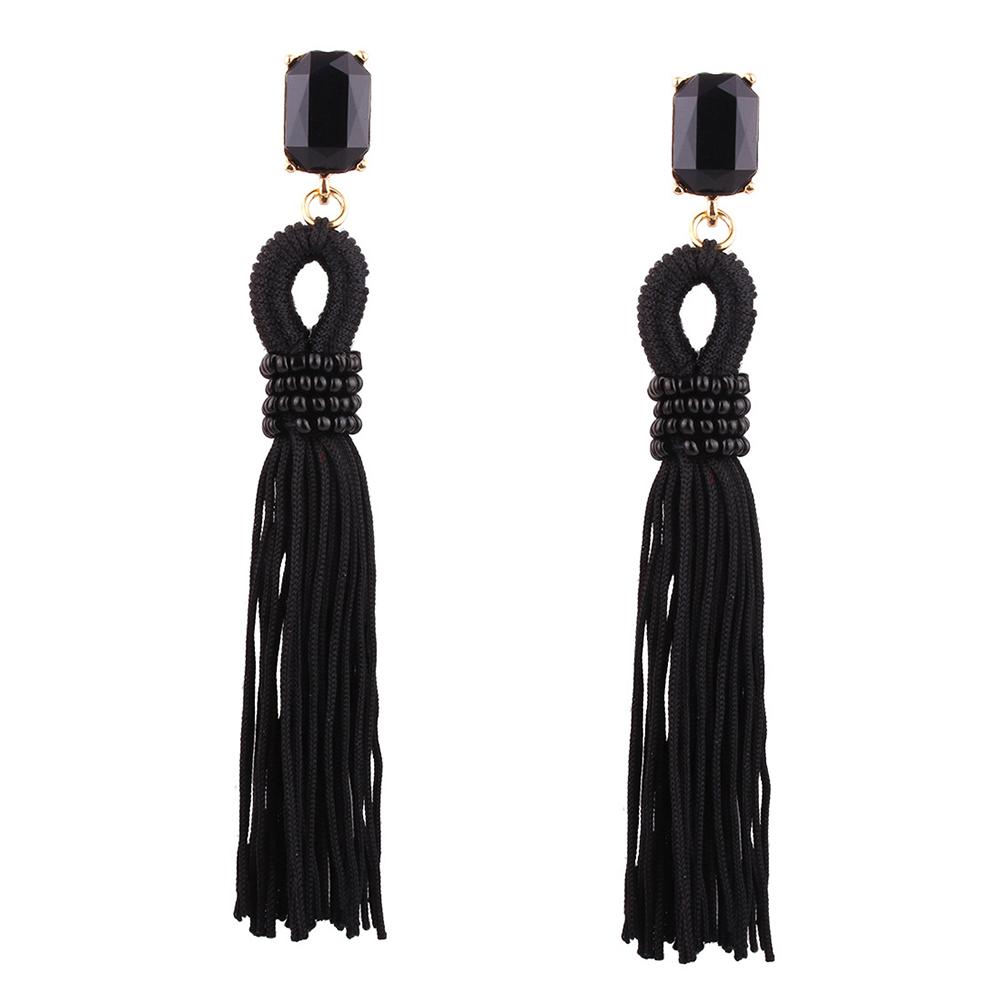 Europe and America Rhinestone Tassels Ear Pendants Long Earrings Eardrop Ladies Jewelry Christmas Gift