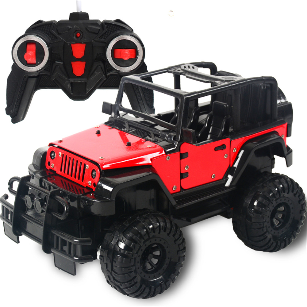 1:18 2WD 4CH Electric Wireless Alloy Remote Control Charging Opening Door Car with LED Light Kids Toy red