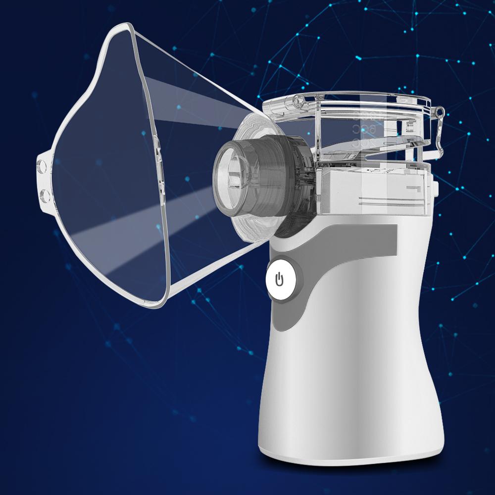 Ultrasonic Humidifier Handheld Atomizer Children Mini Inhaler Respirator Care Atomizer Home gray