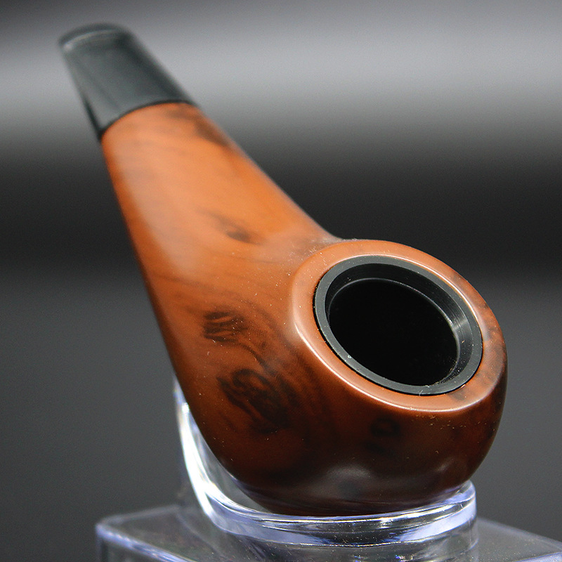 SD-102 Short Smoking Pipes Tobacco Pipes Wood Bent Filter Element Pipe Bakelite Smoking Accessories Gift Box brown