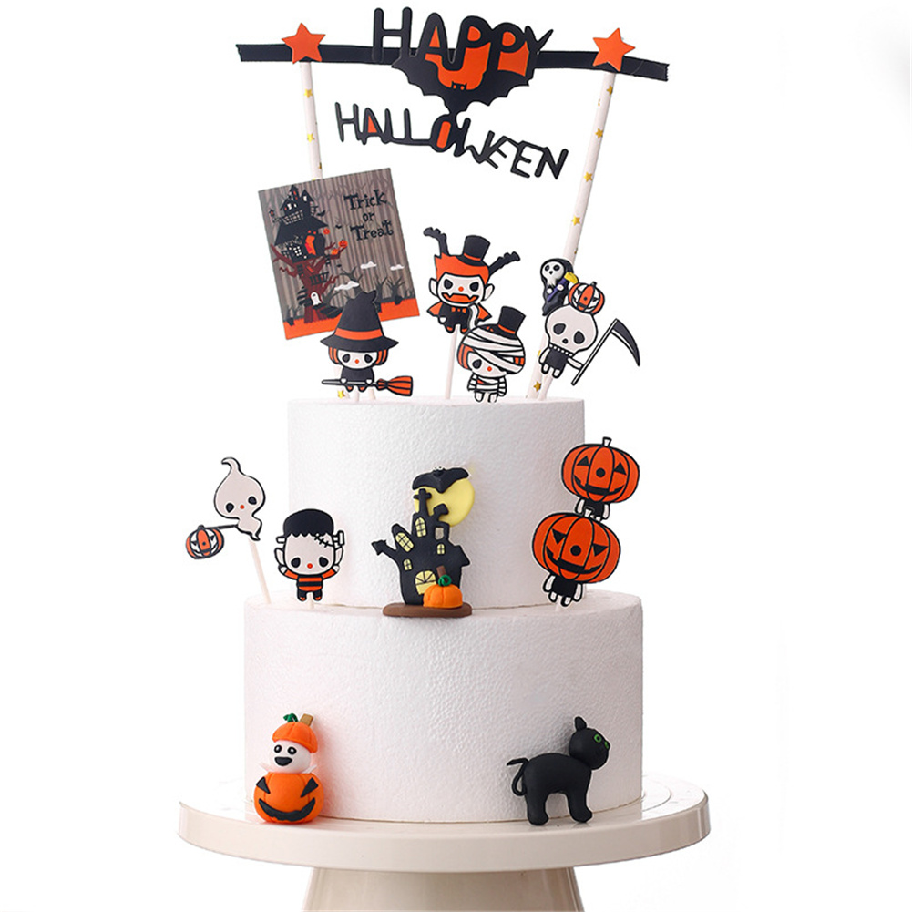Halloween Pumpkin Cake  Decoration Ornaments Household Party Accessories Halloween ghosts