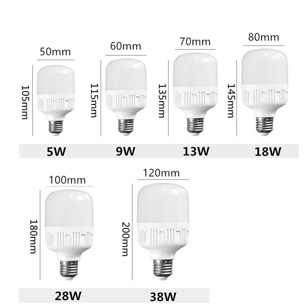 LED Energy Saving Ball Bulb E27 170-265V White Light