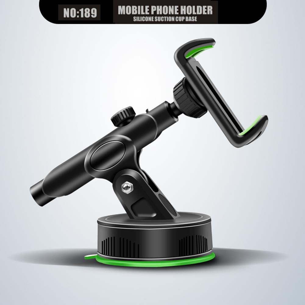 Vehicle Phone Bracket 360 Degree Adjustable Foldable Silicone Suction Windshield Lazy Cellphone Holder black