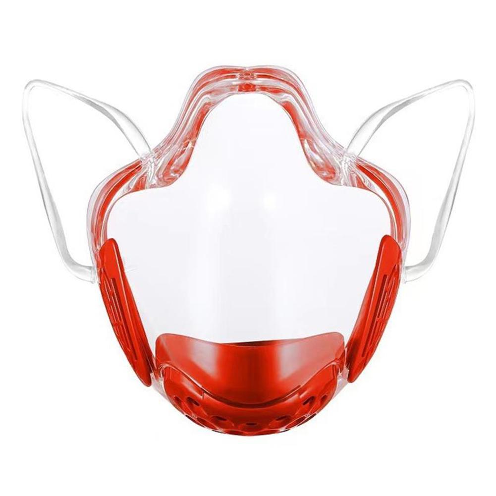 Lip  Language  Mask Protective Face Anti-fog Mask Filter Sponge Isolation Anti-foam Dust Mask Red