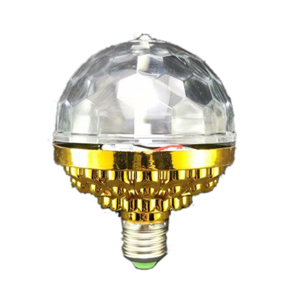 6LEDs 3Colors Lighting Magic Ball Stage Bulb with Gold Color Shell Gold shell