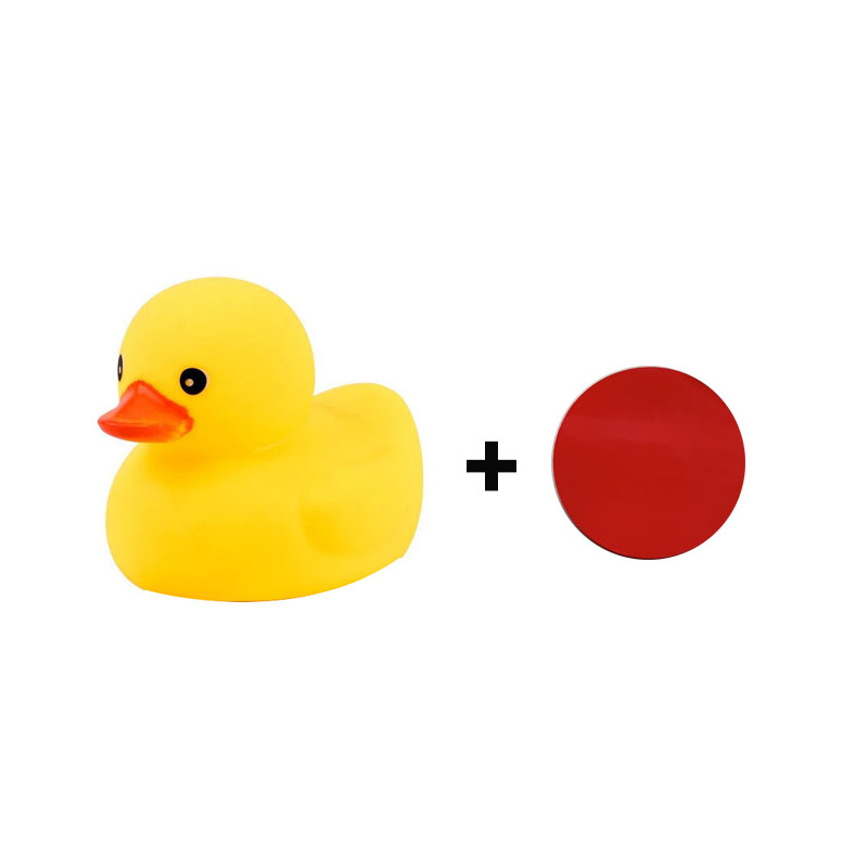 Car Motorcycle Bicycle Decoration Paste Duck Toy with Sticker